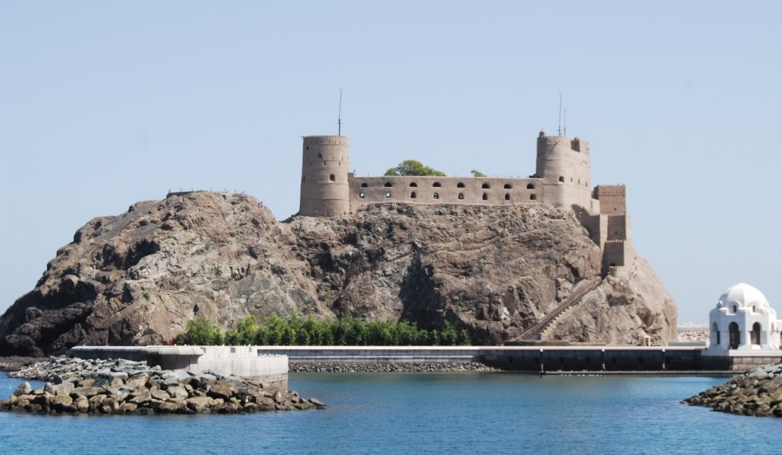 Al Jilali Fort, 1587 Muscat photo by Linda Pappas Funsch